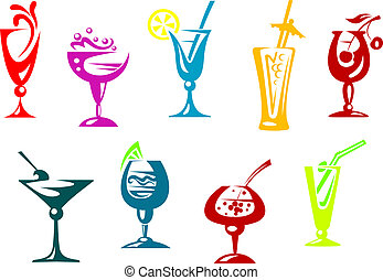 Alkohol und Saftcocktails