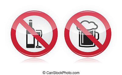 Alkoholproblem - kein Alkoholzeichen