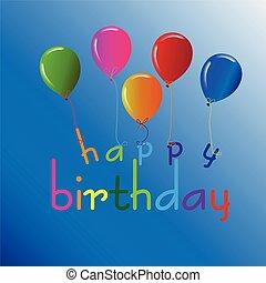 Alles Gute zum Geburtstag mit Ballons.