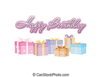 Alles Gute zum Geburtstag mit Geschenkboxen