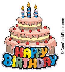 Alles Gute zum Geburtstag mit Kuchen