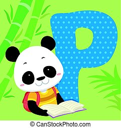Alphabet Fliesen Panda gelesen.