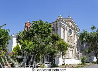Alte historische Kirche in Buyukada, Istanbul - Truthahn.