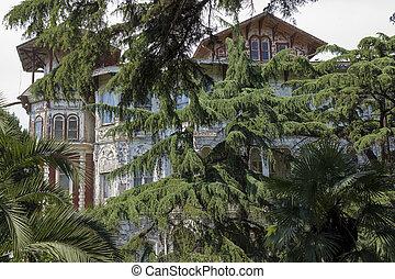Alte historische Villa in Buyukada, Istanbul - Truthahn.