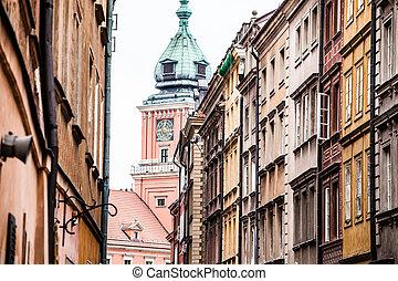 Alte Stadt in Warsaw, Poland.