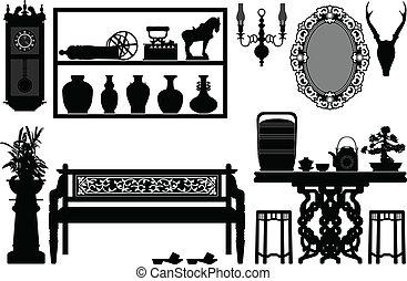 Alte, traditionelle Möbel