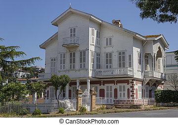 Altes historisches Dorf in Buyukada, Istanbul - Truthahn.