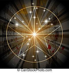 Altes mystisches Pentagramm