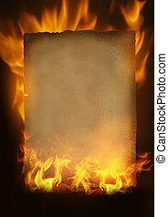 Altes verbranntes Papier