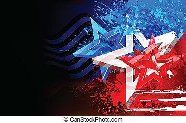 amerikanische , abstrakt, fahne, hintergrund