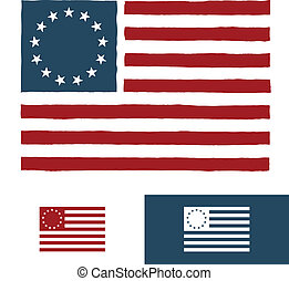 amerikanische , design, fahne, original