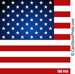 Amerikanische Flagge, Flags Konzept Design. Vector Illustration.