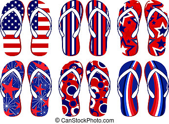 Amerikanische Flaggen-Flips