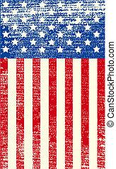 Amerikanische Grungeflagge