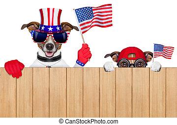 Amerikanische Hunde.