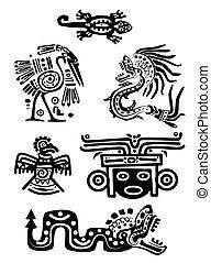 Amerikanische indianische nationale Muster.