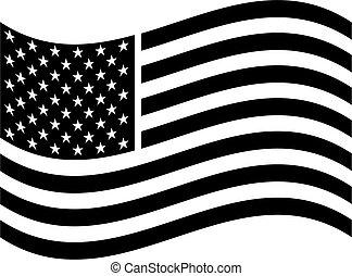 amerikanische , kunst, fahne, klammer