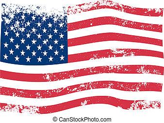 Amerikanischer Flaggenvektor