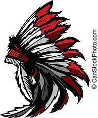 Amerikanischer indianischer Federkopf