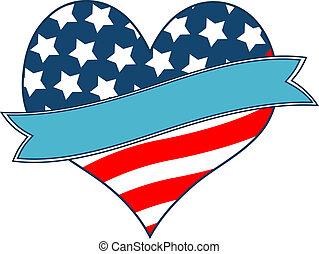 Amerikanisches Flaggenherz.