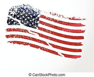Amerikanisches Grunge-Flagge.