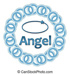 Angel blaue Ringe rund.