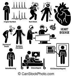 angriff, kardiovaskulär, krankheit, herz