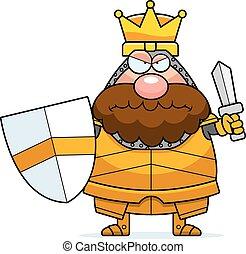 Angry Cartoon King.
