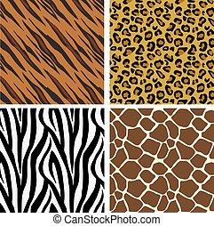 Animal Print Muster nahtlose Fliesen