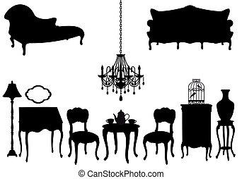 Antike Möbel, Vektor