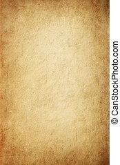 Antikes gelbes Pergament