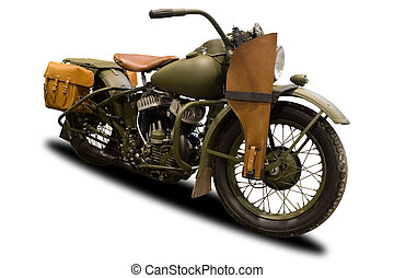 Antikes Militärmotorrad