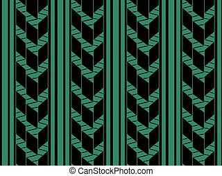 Antique nahtlose grüne Hintergrundkontrolle Pfeillinie.