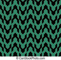 Antique nahtlose grüne Hintergrundpfeilgeometrie.