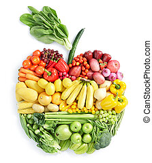 Apfel: gesundes Essen