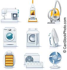 appliances., haushalt, vektor, p.4
