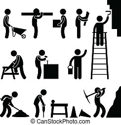 Arbeite hart im Bau
