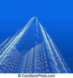 Architektur Blaupause.