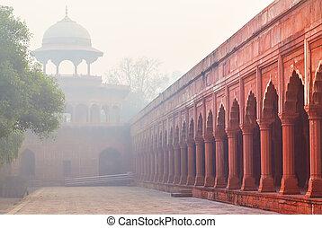 Architektur von Charbagh, oder Raubgarten in Agra, Indien.