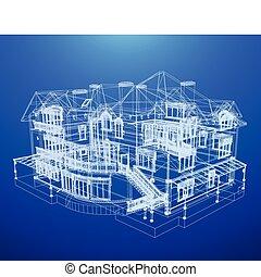 Architekturpläne eines Hauses