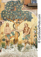 Ardez (Engadine): Adam und eve.