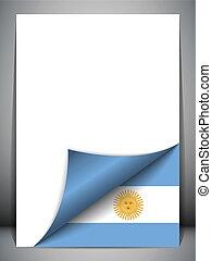 Argentiniens Landesflagge.