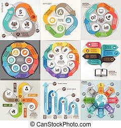 Arrows Business Marketing infographic Template. Vector Illustration. Kann für Workflow-Layout, Banner, Diagramm, Nummernoptionen, Webdesign, Timeline-Elemente verwendet werden.