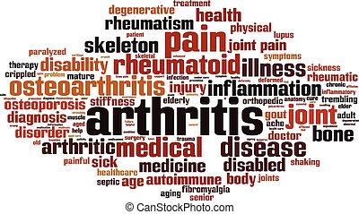 arthritis, wort, wolke