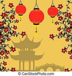 Asiatischer Stil, Vektor-Illustration