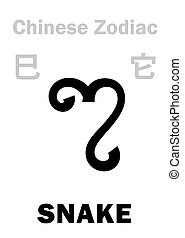 astrology:, chinesisches , zodiac), (sign, schlange