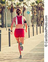 Athletenrennen.