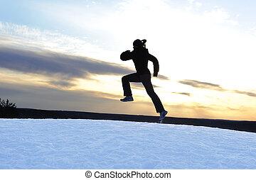 Athletinnen laufen