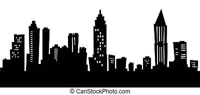 Atlanta Cartoon Skyline