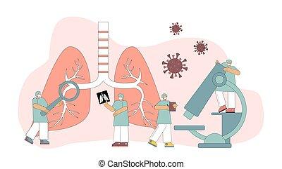 atmungs, system., prüfung, pulmonology., behandlung